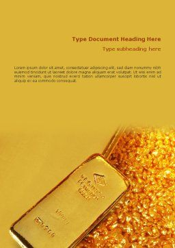 Gold Word Template, Cover Page, 01675, Financial/Accounting — PoweredTemplate.com