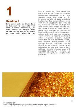 Gold Word Template, First Inner Page, 01675, Financial/Accounting — PoweredTemplate.com