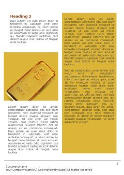 Gold Word Template, Second Inner Page, 01675, Financial/Accounting — PoweredTemplate.com