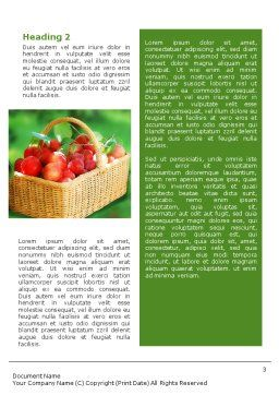 Garden Word Template, Second Inner Page, 01676, Food & Beverage — PoweredTemplate.com