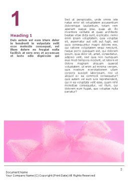 Christmas Bells On A Pink Background Word Template, First Inner Page, 01679, Holiday/Special Occasion — PoweredTemplate.com