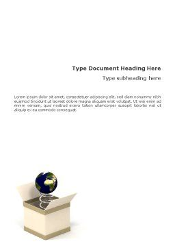Discover World Word Template, Cover Page, 01680, 3D — PoweredTemplate.com