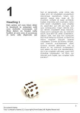 Dice On A Glass Surface Word Template, First Inner Page, 01681, 3D — PoweredTemplate.com