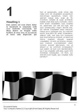 Signal Flag Word Template, First Inner Page, 01682, 3D — PoweredTemplate.com