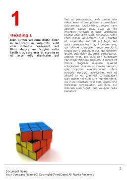 Rubik's Cube Word Template, First Inner Page, 01683, 3D — PoweredTemplate.com