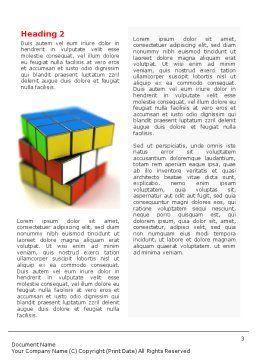 Rubik's Cube Word Template, Second Inner Page, 01683, 3D — PoweredTemplate.com