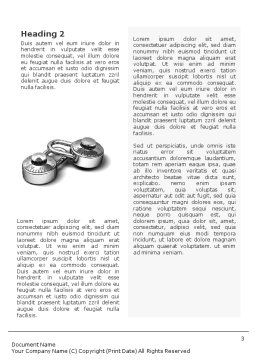 Numbered Locks Word Template, Second Inner Page, 01684, 3D — PoweredTemplate.com