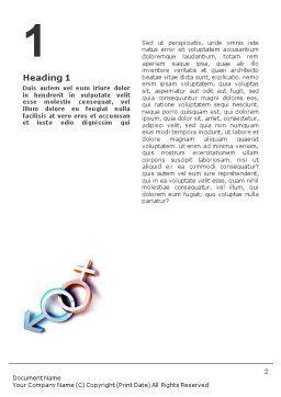 Gender Word Template, First Inner Page, 01685, 3D — PoweredTemplate.com