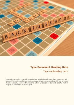 Scrabble Word Template, Cover Page, 01686, 3D — PoweredTemplate.com