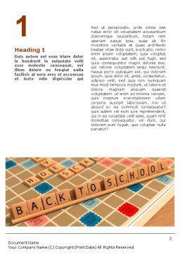 Scrabble Word Template, First Inner Page, 01686, 3D — PoweredTemplate.com
