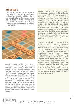 Scrabble Word Template, Second Inner Page, 01686, 3D — PoweredTemplate.com