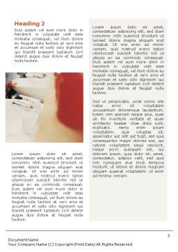 Oral Hygiene Word Template Second Inner Page