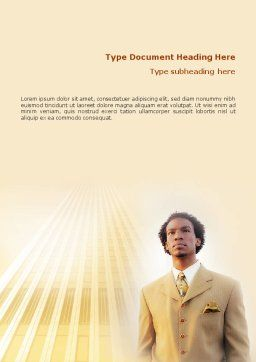 Career Of Afro-Americans Word Template, Cover Page, 01688, Business — PoweredTemplate.com