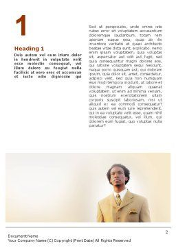 Career Of Afro-Americans Word Template, First Inner Page, 01688, Business — PoweredTemplate.com