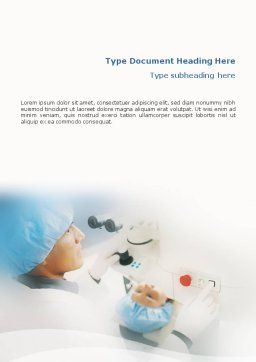 Electronic Microscope Word Template, Cover Page, 01690, Medical — PoweredTemplate.com