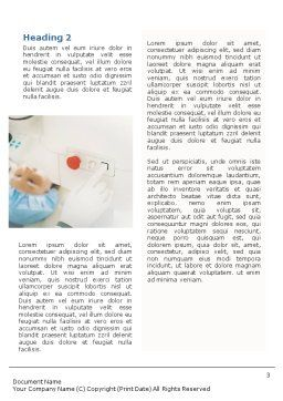 Electronic Microscope Word Template, Second Inner Page, 01690, Medical — PoweredTemplate.com