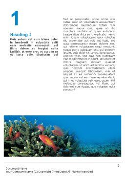 Coral Reef Word Template First Inner Page