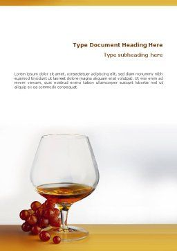 Brandy Word Template, Cover Page, 01692, Food & Beverage — PoweredTemplate.com