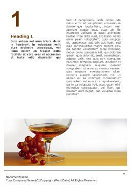 Brandy Word Template, First Inner Page, 01692, Food & Beverage — PoweredTemplate.com