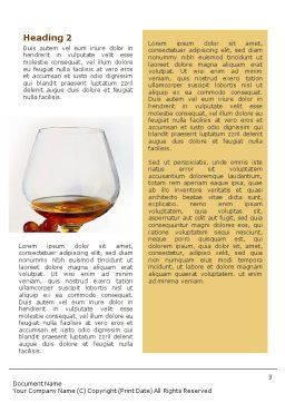 Brandy Word Template, Second Inner Page, 01692, Food & Beverage — PoweredTemplate.com