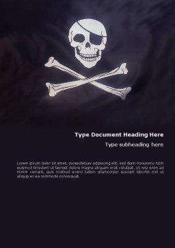 Pirates Flag Word Template Cover Page