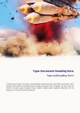 Air Force Bombing Word Template, Cover Page, 01696, Military — PoweredTemplate.com