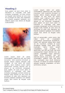 Air Force Bombing Word Template, Second Inner Page, 01696, Military — PoweredTemplate.com