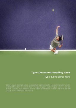 Tennis Word Template, Cover Page, 01697, Sports — PoweredTemplate.com