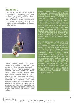 Tennis Word Template, Second Inner Page, 01697, Sports — PoweredTemplate.com
