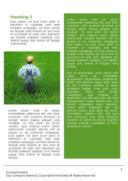 Farmer On The Green Field Word Template, Second Inner Page, 01698, Agriculture and Animals — PoweredTemplate.com