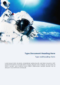 Astronaut Word Template, Cover Page, 01702, Careers/Industry — PoweredTemplate.com