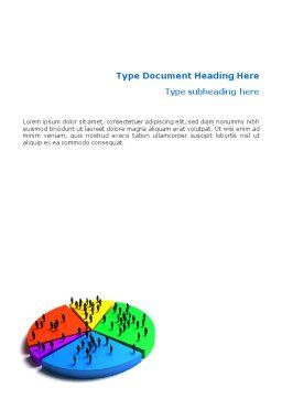 Chart Word Template, Cover Page, 01703, 3D — PoweredTemplate.com