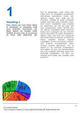Chart Word Template, First Inner Page, 01703, 3D — PoweredTemplate.com