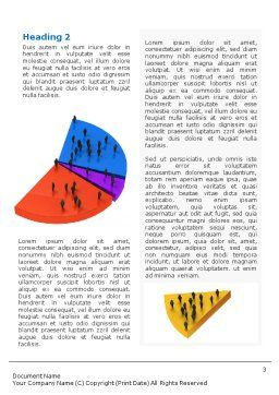 Chart Word Template, Second Inner Page, 01703, 3D — PoweredTemplate.com