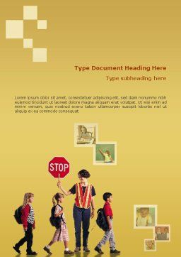 Social Education Word Template, Cover Page, 01704, Education & Training — PoweredTemplate.com