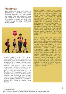 Social Education Word Template, Second Inner Page, 01704, Education & Training — PoweredTemplate.com