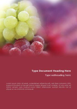 White And Red Grapes Word Template, Cover Page, 01705, Food & Beverage — PoweredTemplate.com