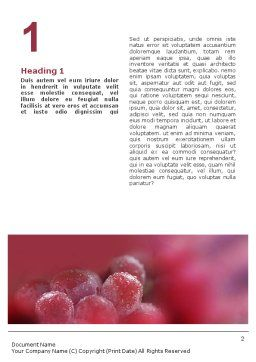 White And Red Grapes Word Template First Inner Page