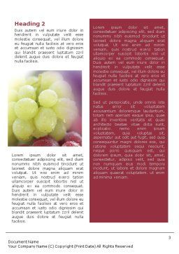 White And Red Grapes Word Template Second Inner Page