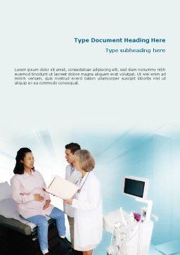 Obstetric Word Template, Cover Page, 01707, Medical — PoweredTemplate.com