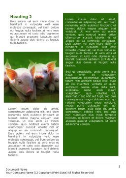 Pig Word Template, Second Inner Page, 01708, Agriculture and Animals — PoweredTemplate.com