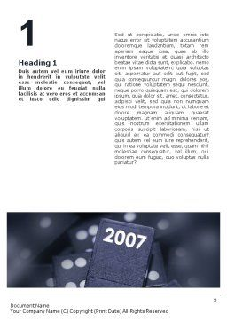 2007 Word Template, First Inner Page, 01712, Holiday/Special Occasion — PoweredTemplate.com