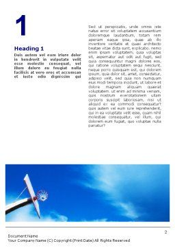 Flying Basketballer Word Template, First Inner Page, 01713, Sports — PoweredTemplate.com