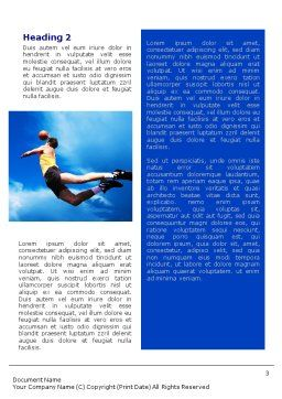 Flying Basketballer Word Template, Second Inner Page, 01713, Sports — PoweredTemplate.com
