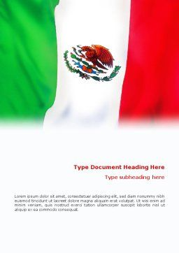 Mexican Flag Word Template, Cover Page, 01716, Flags/International — PoweredTemplate.com