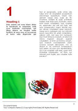 Mexican Flag Word Template, First Inner Page, 01716, Flags/International — PoweredTemplate.com