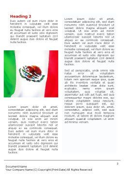 Mexican Flag Word Template, Second Inner Page, 01716, Flags/International — PoweredTemplate.com