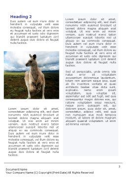 Kangaroo Word Template, Second Inner Page, 01717, Nature & Environment — PoweredTemplate.com