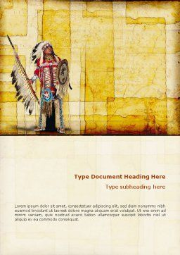 American Indian Word Template, Cover Page, 01718, America — PoweredTemplate.com