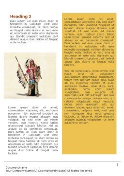 American Indian Word Template, Second Inner Page, 01718, America — PoweredTemplate.com